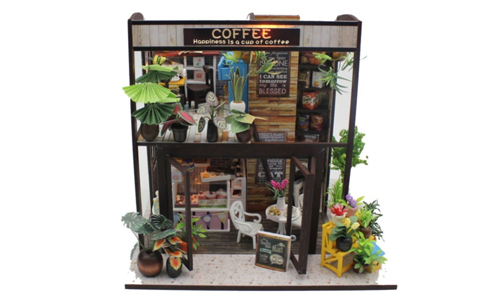 Cutebee Happiness is a cup of coffee DIY Dollhouse