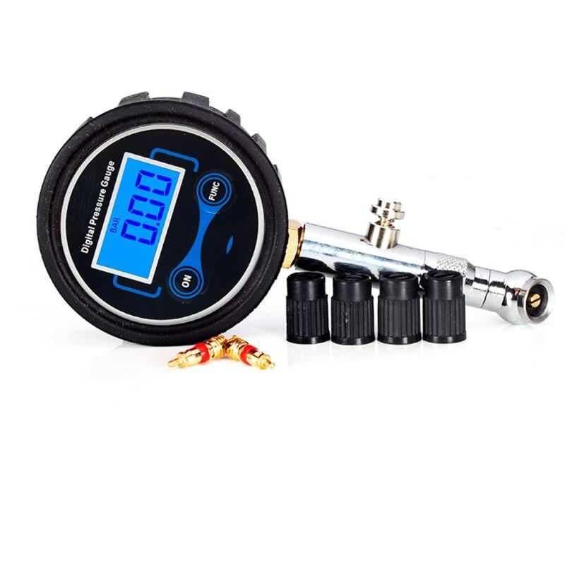ЖК-цифровой датчик давления в шинах 0-200PSI Автомобильный датчик давления воздуха в шинах для мотоциклов, автомобилей, грузовиков, велосипедо...