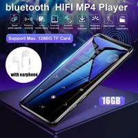 16GB bluetooth MP3 Auricolari del Lettore Hi-fi Radio fm mini USB mp3 di Sport MP 4 HiFi Portatile Lettori di Musica Vocale registrazione Registratore