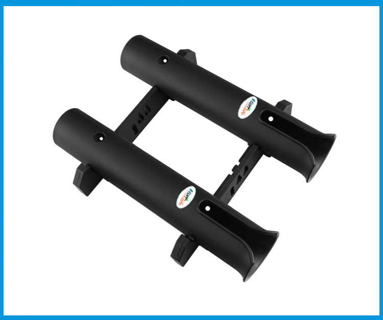 Soporte para caña de pescar de plástico ABS, caña de pescar ligera y portátil, accesorios giratorios, soporte de montaje en tubo duradero, soporte para conector