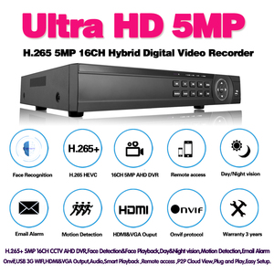 Image 2 - Gezicht 16 Kanaals Ahd Dvr 16CH 1080P 5MP 2592*11944 Digitale Video Audio Recorder Hybride Dvr Nvr Hvr 6 In 1 Alarm Security System