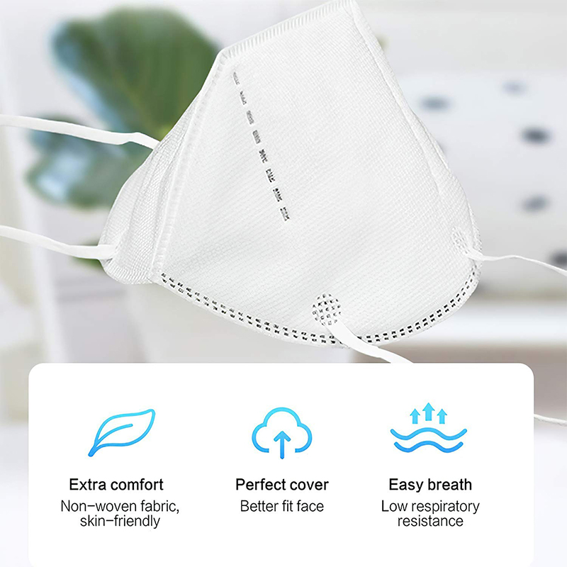 Face Mask KN95 Anti-pollution Disposable Anti Viral Face Masks PM2.5 Safety Dust Filter 3 Layer Mask On