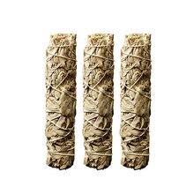 3 шт., практичные пряди для размазывания шалфея, натуральный California, белый аромат, палочка для очистки, палочка для медитации, молитвы