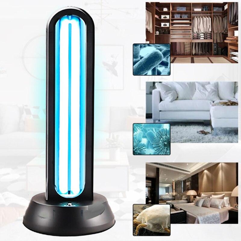 1pcs 38W UV Lamp Quartz Sterilizer Ozone Home Ultraviolet Lamps Remote Control Timer UVC Germicidal Light Air Sanitizer Purifier