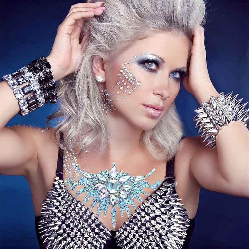 Tijdelijke Rhinestone Glitter Tattoo Stickers Gezicht Juwelen Gems Festival Party Make Body Juwelen Flash Fake Tijdelijke Tattoos