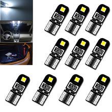 Светодиодные лампы canbus 5w5 led w5w t10 10 шт для салона автомобиля
