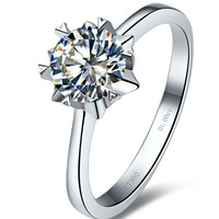 CAR009 Snowflake 1ct NSCD synthetic Gem rings for women engagement rings