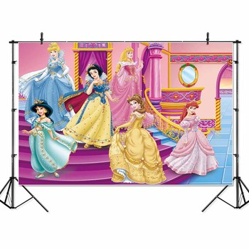 Premium Princess Snow White Belle children kids Banner Photo Background Printed Studio Professional Indoor Photographic Backdrop
