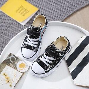 Image 3 - 2020 אופנה לפעוטות ילדים Unicorn בד סניקרס קשת גופר נעלי פוני פעוט נעלי ילדים גדולים נעלי בנות שטוח הנעלה