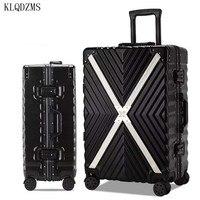 KLQDZMS 20''24''26''29 Zoll ABS Mode Koffer Kabine Roll Leichte Gepäck PC Trolley Tasche