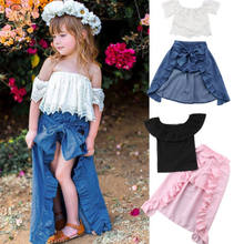 Newest Toddler Baby Girls Kid Sister Summer Ruffle Dress T-shirt Top+Shorts Pants Cute Cotton Kids Clothes Sets 1-6T(China)