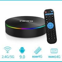 Caixa de tv quadcore 9.0 ghz 5 ghz wifi duplo bt4.1100m 8.1 m android 2.4 caixa superior ajustada t95q tvbox 4 gb 64 gb android 1000 amlogic s905x2|Conversor de TV| |  -