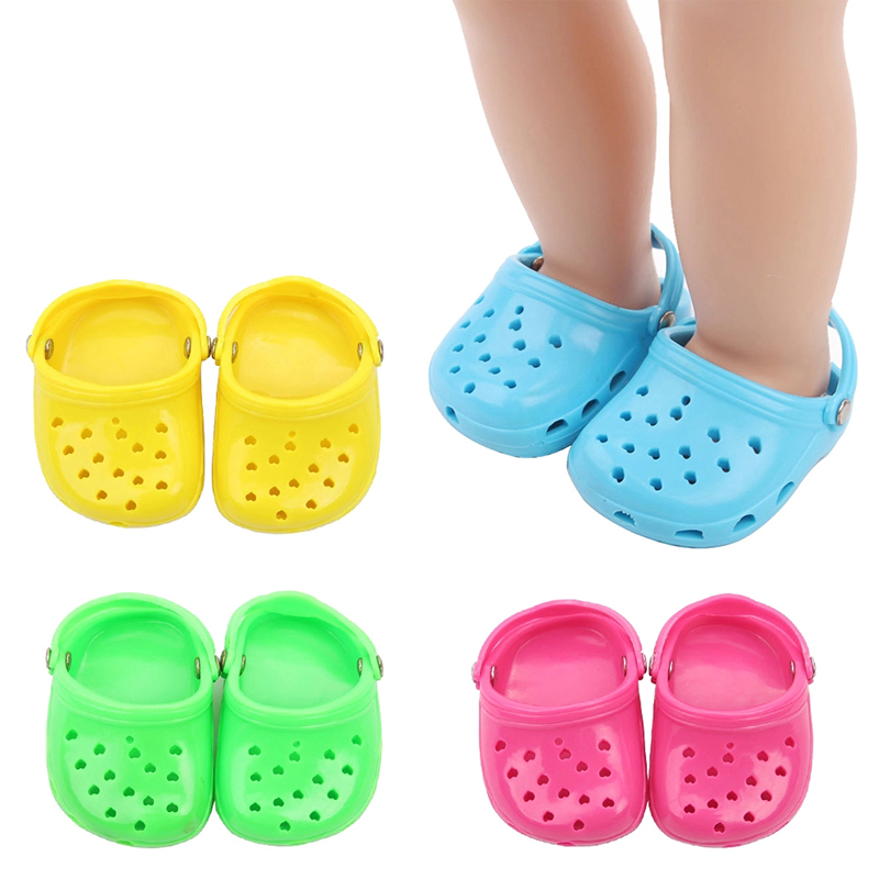"""BLUE Multi-Color Polka Dot DOLL CLOGS SANDALS SHOES fits 18/"""" AMERICAN GIRL DOLL"""