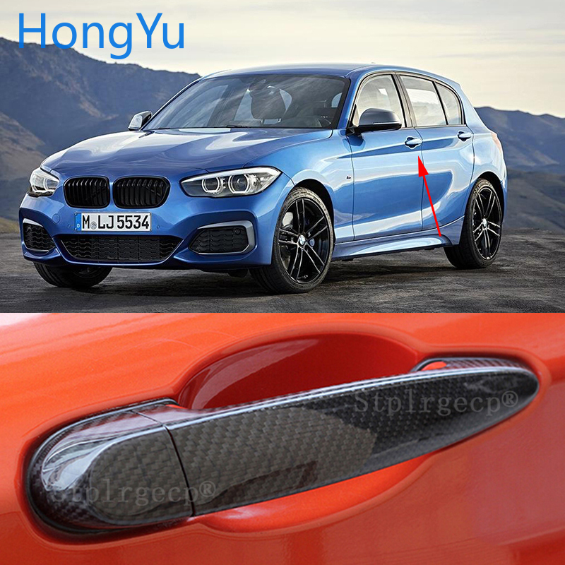 for BMW 1 series E82 E87 F20 F21 M140i M135i 2007 2019 100% real carbon fiber Auto outer door handle cover