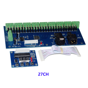 DMX-27CH-LED digital display led dimmer 1A*27CH decoder DC12V-24V RGB controller for lamp Free shipping - discount item  21% OFF Lighting Accessories