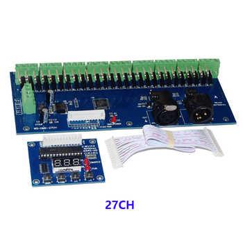 DMX-27CH-LED digital display led dimmer 1A*27CH decoder DC12V-24V led RGB controller for led lamp Free shipping - DISCOUNT ITEM  20 OFF Lights & Lighting