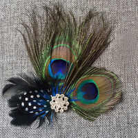 Elegant Girl Peacock Feather Sparkling Rhinestones Hair Clip Women Hairpins Bridal Wedding Hair Clip Headwear Hair Accessories