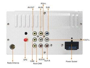 Image 5 - מולטימדיה לרכב 2 דין רכב נגן DVD כפול 2 דין אוניברסלי רכב רדיו GPS ניווט לרכב דאש סטריאו וידאו משלוח מפת מצלמה