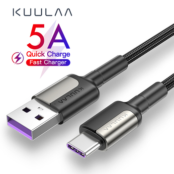 KUULAA 5A USB Type C Cable for Huawei Mate 20 Pro P20 Lite Supercharge USB C Fast Charging Cable Type-C Cable for Huawei P30 Pro 1