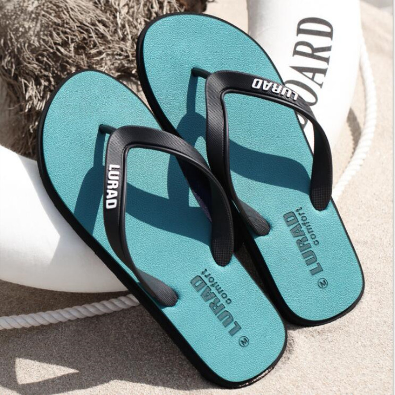 Men's Summer Flip-flops Slippers Soft Shoes Comfortable Beach Sandals Outdoor Casual Shoes Personality