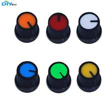 цены 50pcs AG3 WH148 Potentiometer Knob Cap Plastic Red Orange Yellow Green Blue White