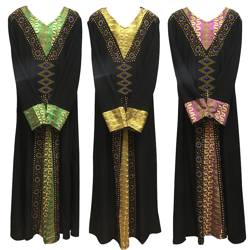 2020New Dubai Kids Abaya  8-12years  Robe Ramadan Clothes Diamond And Embroidery Kaftan Jibab Islamic Muslim Dress For Baby Girl