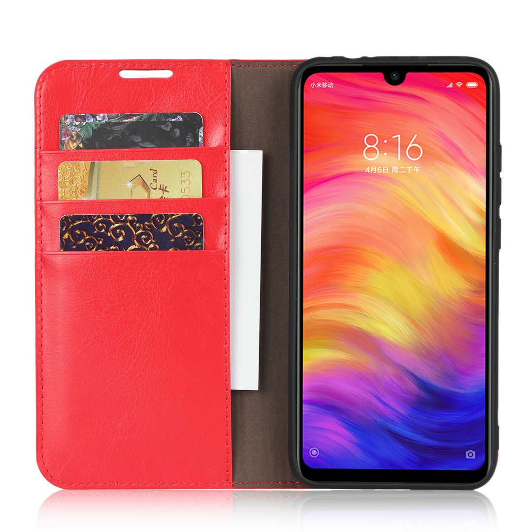 360 الطبيعي جلد طبيعي الجلد محفظة قلابة كتاب غطاء إطار هاتف محمول على ل Xiaomi Redmi ملاحظة 7 برو Note7 7Pro 32/64 /128 GB Xiomi
