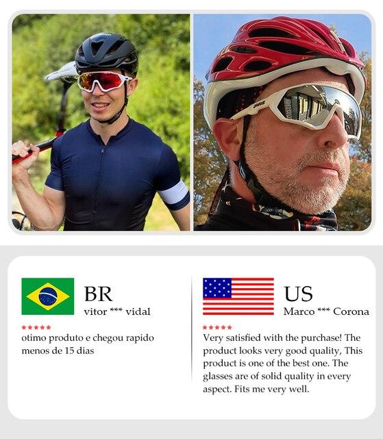 Óculos de ciclismo uv400 mtb bicicleta óculos de sol correndo pesca esportes óculos de sol 4