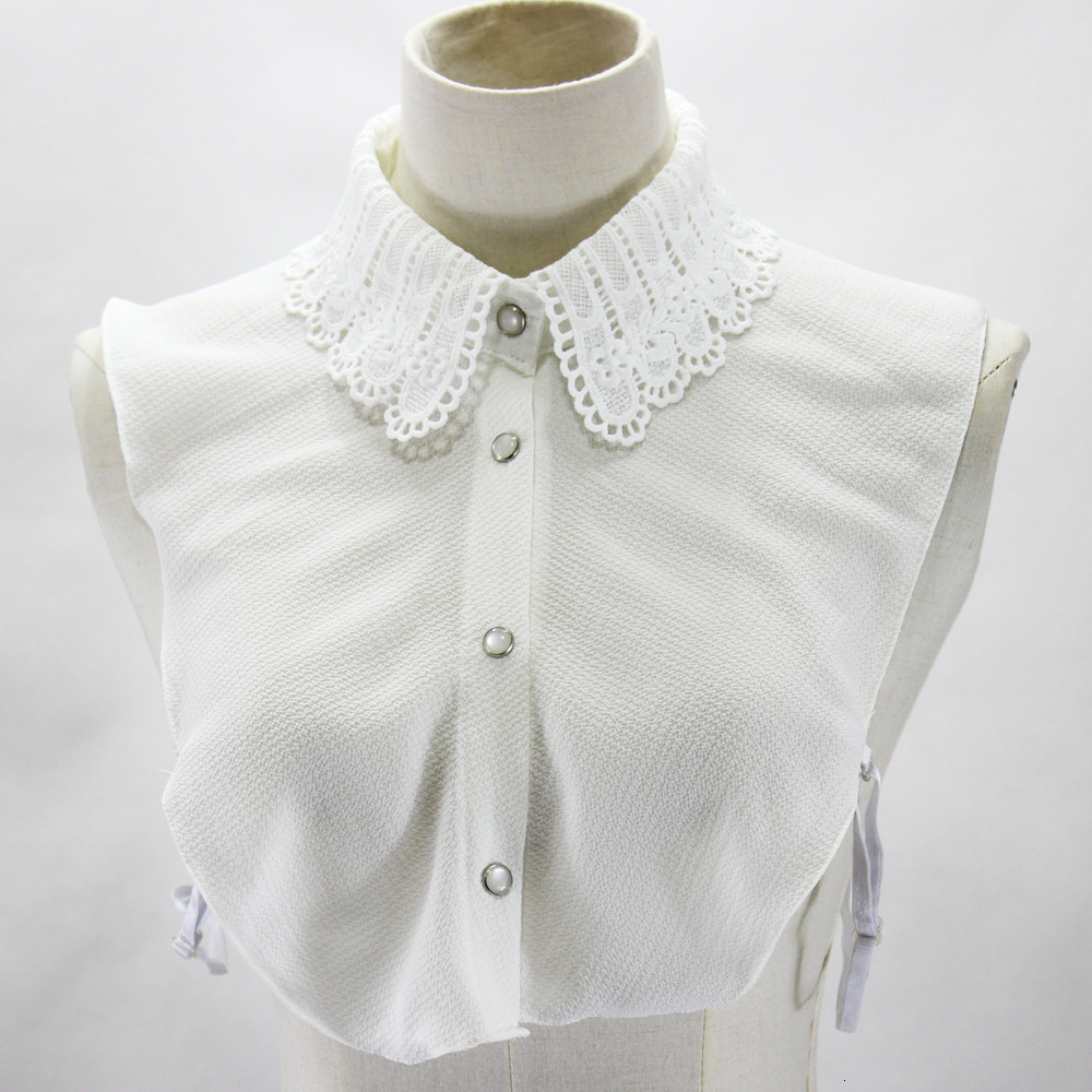 Hollow Out Chiffon Shirt Women Dickie Decoration Lead Fake Collar Detachable New Free Shipping Wholesale