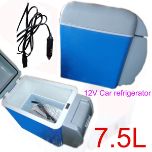 Multi-Function 12V 7.5L Capacity Mini Portable Car Refrigerator Freezer Cooler Warmer Truck Thermoelectric Electric Fridge