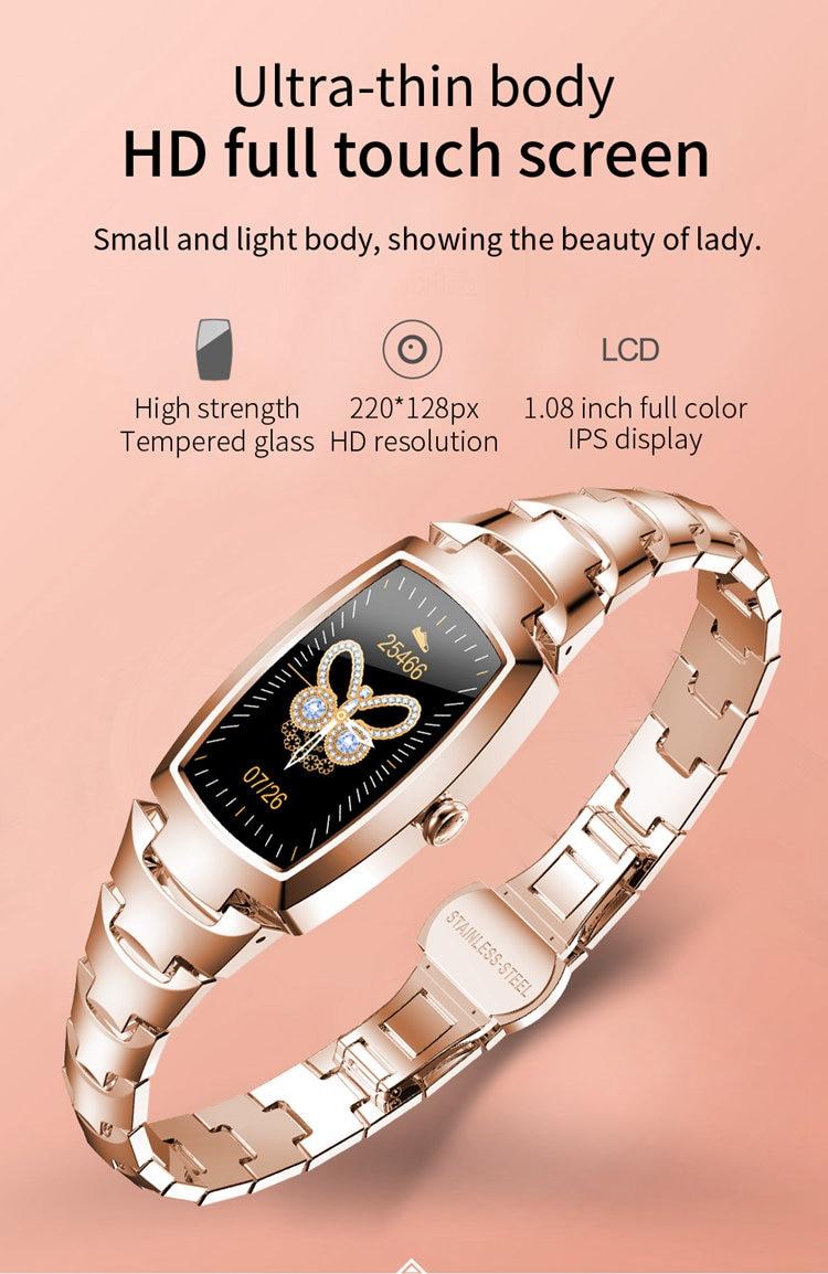 2021 facotry feminino relógio inteligente h8pro sem