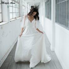 Женское пляжное свадебное платье magic awn ТРАПЕЦИЕВИДНОЕ ПЛАТЬЕ