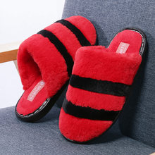 Moipheng Soft Slipper Women Soft Home Slippers Warm Plush Shoes Striped Bottom Women Indoor Slippers Slip-On Shoes Bedroom House(China)