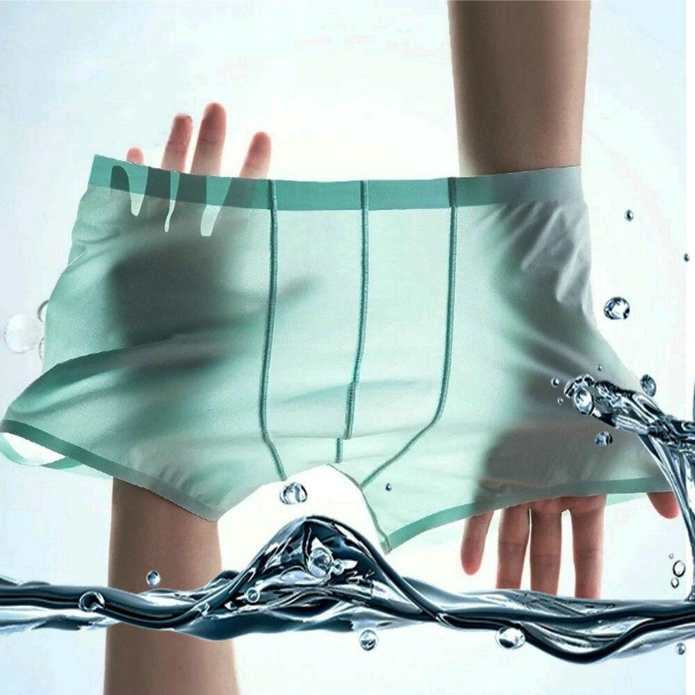 2/pcs/Lot Men's Underwear Boxer Mesh Men's Ice Silk Ventilation Breathable Cool Men's Underwear Mesh Shorts
