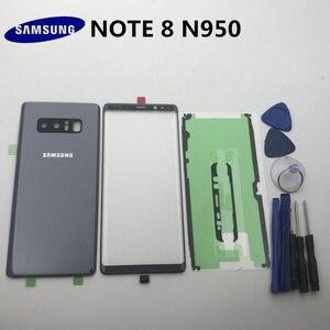 Image 3 - NOTE8 новый оригинальный чехол для Samsung Galaxy NOTE 8 N950 N950F Задняя стеклянная крышка для аккумулятора + передняя стеклянная линза + клей + Инструменты