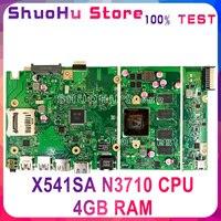 KEFU X541SA اللوحة الأم ل ASUS X541SA X541S F541S CPU/N3710 4 جيجابايت/ذاكرة اللوحة الأم اختبار 100% العمل الأصلي اللوحة الرئيسية