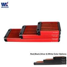 Winkool 120mm 240mm 360mm u 패스 슬림 워터 냉각 라디에이터/열교환 기 120mm 컴퓨터 팬용 더 효과적인 30mm 두께