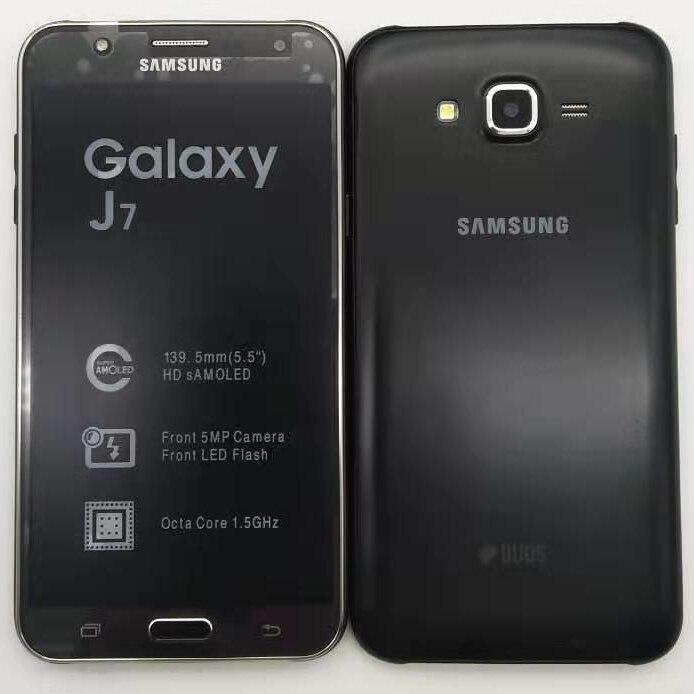 Фото. Оригинальный samsung Galaxy J7 разблокирована Duos gsm 4G LTE Android мобильного телефона Octa Core