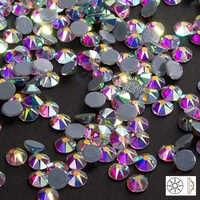 Novo corte facetas 8 grande 8 pequeno quente volta ss16 ss20 ss30 cristal ab ferro em strass quente fix strass para roupas strass