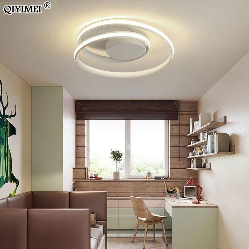 Image 3 - Современные Люстры, светодиодный светильник для гостиной, спальни, кабинета, белый, черный цвет, поверхностное крепление, лампа, деко, AC85 265V-in Люстры from Лампы и освещение