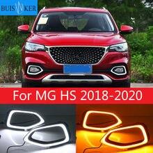 Faro de parachoques de coche para MG HS, luz diurna 2018 ~ 2020y, DRL, accesorios de coche, faro LED para luz antiniebla MG HS