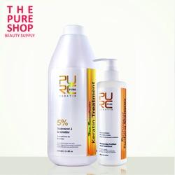 1000ml 5% Formalin Keratin & 300ml Reinigende Shampoo Brasilianische Keratin Haar Behandlung Begradigen Haar Salon Produkte Haar Pflege