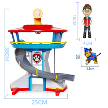 Paw Patrol dog Rescue Base Look-out Playset  Puppy Toys model Patrulla Canina Anime ActionToy Figure child Birthday Gift
