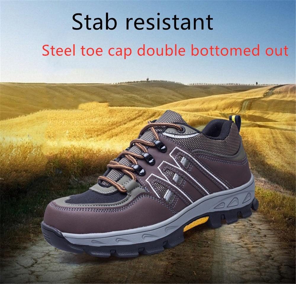 Dewbest Biqueira de Aço Sapatos de Segurança