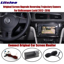 Liislee Reverse Trunk Handle Camera For Volkswagen Lavid 2012~2016 Connect Original Screen Intelligent Dynamic Trajectory таро уэйта универсальное руководство карты