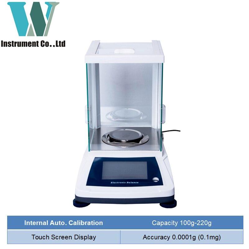 Livraison gratuite 120g 220g 0.0001g Balance analytique Callbration interne écran tactile Balance de laboratoire Micro Balance électronique