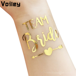 10pcs Waterproof Bridesmaid Team Gift Temporary Tattoo Bachelorette Party Sticker Decoration Marriage Bride To Be Party Supplies