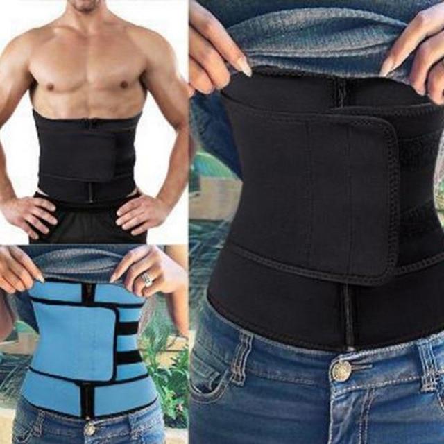 Men Women Waist Trainer Vest Gym Slimming Adjustable Sauna Sweat Belt Body Shaper Women's Body Shaper High Waist Trainer Cincher 4