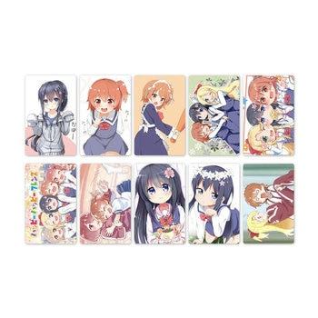 10pcs Anime Watashi ni Tenshi ga Maiorita Card Stickers Waterproof Scrub Card Sticker Kids Sticker Toys for Kids Collection Gift