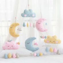 Подвесная Подушка с морскими водорослями, подушка с Луной и облаком, плюшевые игрушки, мягкая подушка для девочек, украшение комнаты, рождественские подарки, игрушки для детей